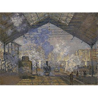 Claude Monet - The Saint Lazare Station Poster Print Giclee