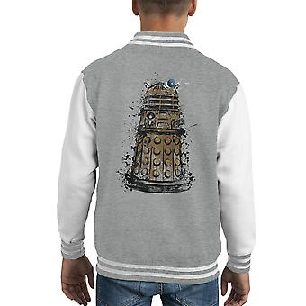 Doctor Who Dalek sterminare Varsity Jacket capretto