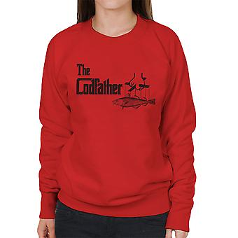 Das Codfather Pate Angeln Logo Damen Sweatshirt