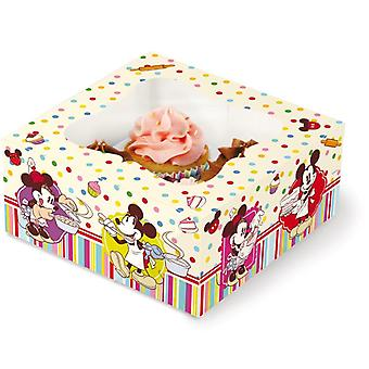 Scatola Regalo per 4 Cupcakes Mickey Mouse Disney Cake Design