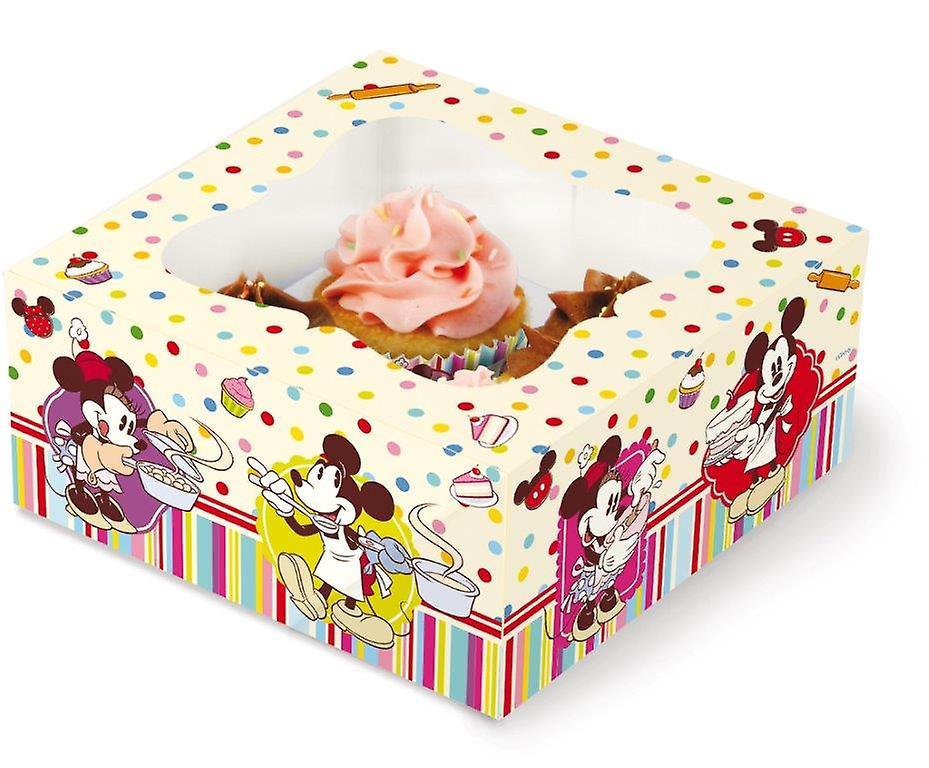 Scatola Regalo per 4 Cupcakes Mickey Mouse Disney Cake Design