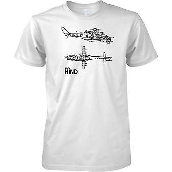 MIL MI-24 HIND russischen Angriff Hubschrauber Gunship - T-Shirt für Herren