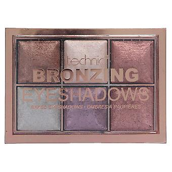 Technic Bronzing 6 Colour Baked Eyeshadow Palette 6x2g