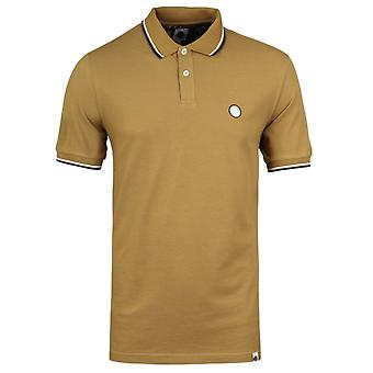 Pretty Green Tipped Pique Mustard Yellow Polo Shirt