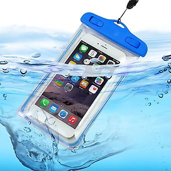 ONX3 (Baby Blue) Universal Transparent Mobile Phone , Passport, Money Underwater Waterproof Swimming Pool, Ocean Protection Bag Touch Responsive For  Vodafone Smart N9 Lite