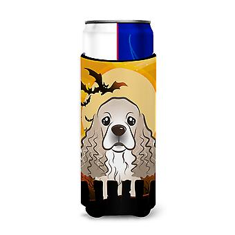Halloween Cocker Spaniel Ultra Beverage Insulators for slim cans