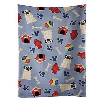 キャロラインズ宝物 BB2630KTWL 犬家コレクション マスティフ白いキッチン タオル