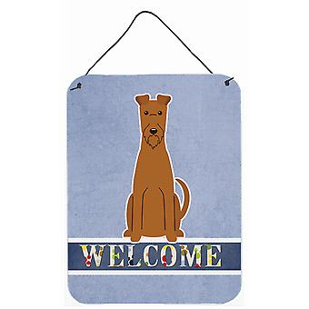 Irish Terrier Welcome Wall or Door Hanging Prints