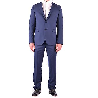 Manuel Ritz mens MCBI325049O Blau polyester suits