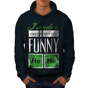 Funny Chemistry Geek Men NavyHoodie | Wellcoda