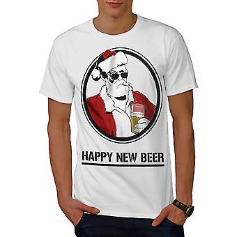 Feliz nueva cerveza WhiteT-camisa de los hombres | Wellcoda