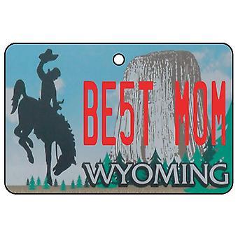 Wyoming - Best Mom License Plate Car Air Freshener