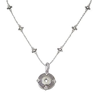 Stainless Steel Pendant With Necklace For Mini Click Buttons Kb0332-s