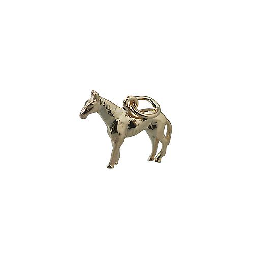 9ct Gold 14x19mm Standing Horse Pendant or Charm