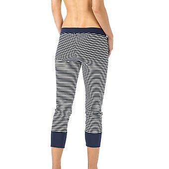 Mey 16821-408 Women's Night2Day Night Blue Solid Colour Pajama 3/4 Length Pyjama Pant