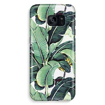 Samsung S7 Edge Full Print Case - Banana leaves