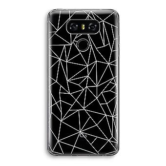 LG G6 Transparent Case - Geometric lines white