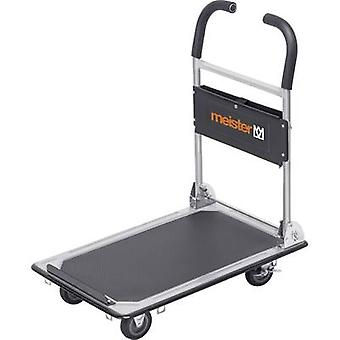 Flatbed trolley foldable, + compartment Steel Load capacity (ma
