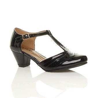 Ajvani женский середины низкий блок каблук шарнира башмак комфорта резиновые единственного суда обувь сандалии
