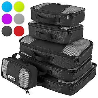 Savisto Packing Cubes Suitcase Organiser 6-Piece Set - Black