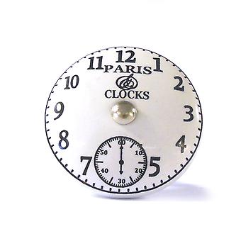 Large Paris Clock Ceramic Cupboard Knob