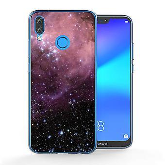 Huawei P20 Lite paarse en zwarte sterrenbeeld TPU Case Gel