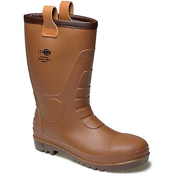 Dickies Mens Workwear Groundwater Super Safety Boot Brown FW13200B