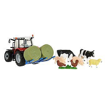 43205 Massey Fergusson Tractor Farm Play Set