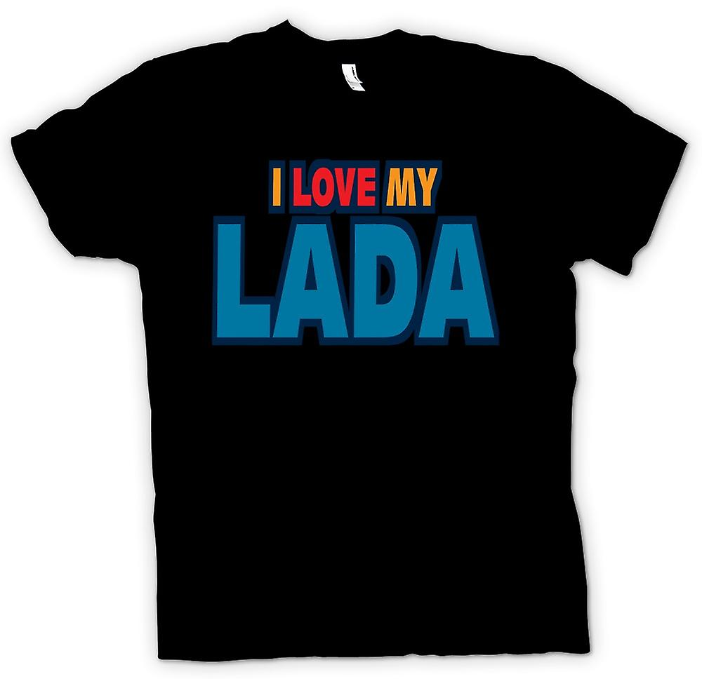 Womens T-shirt - I Love My Lada - Car Enthusiast