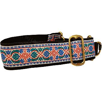 Dogcrafts 40-25mm Drop Martingale Dog Collar Red Blue Teal