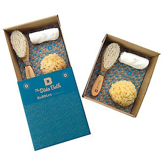 The Dida Pack Natural Sponge, Wood Brush And Washcloth Bubbles