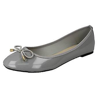 Kære plet på Patent Ballerina sko F80388 - sort syntetisk Patent - UK størrelse 3 - EU størrelse 36 - US størrelse 5
