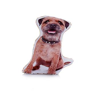 Adorable Border Terrier Shaped Midi Cushion