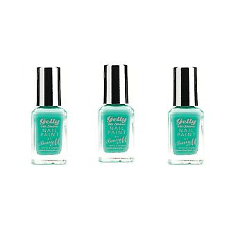 Barry M X 3 Barry M Gelly Hi Shine Nail Paint - Green Berry