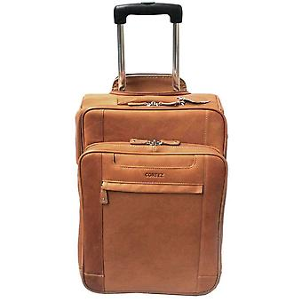 Cortez Leather Cabin Trolley - Brown