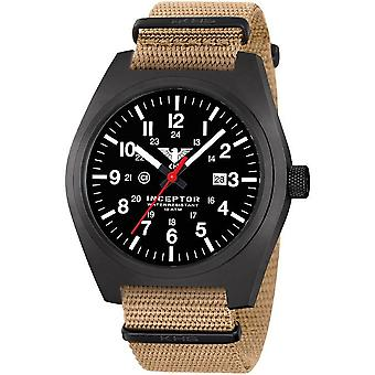 KHS mens watch interceptor black steel KHS. INCBS. NT