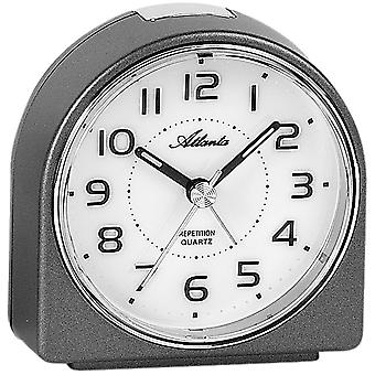 Atlanta 1932/4 alarm clock quartz analog anthracite quietly without ticking with light Snooze