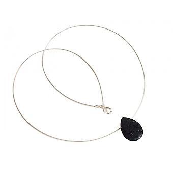 Lava halskæde lava halskæde i 925 sølv BIRTE halskæde med vedhæng
