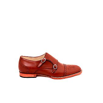 Handcrafted Premium Leather Berton Brown Monk Shoe