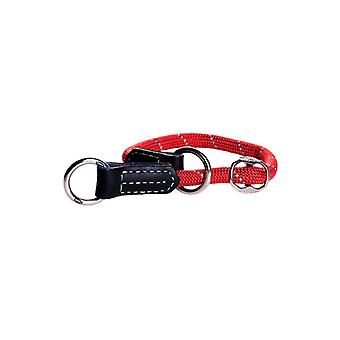 Rogz Rope Rope-Check Collar Red