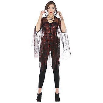 Traje de jaqueta de aranha girando design com tule para senhoras