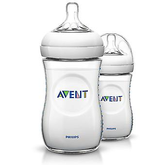 Philips SCF693/27 Natural 9oz/260ml Avent Baby Feeding Bottle - Twin