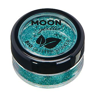 Biodegradable Eco Glitter Shakers by Moon Glitter - 100% Cosmetic Bio Glitter for Face, Body, Nails, Hair and Lips - 5g - Turquiose