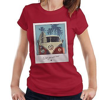 Official Volkswagen Polaroid Camper Women's T-Shirt