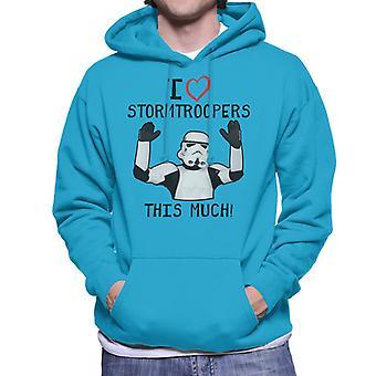 Stormtrooper original eu amo Troopers isto muito homens de capuz moletom
