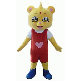 mascot bear yellow, red and white outfit SPOTSOUND