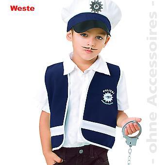 Polizist Kostüm Wachmann Polizeikostüm Kinder Weste Kinderkostüm