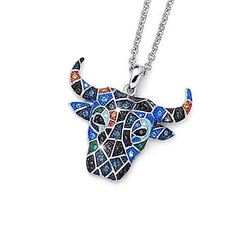 Oliver Weber pendentif Toro Rhodium