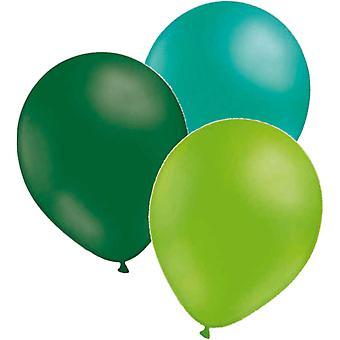 Ilmapalloja 24-pack-3 värit emerald green havsgrön limen vihreä