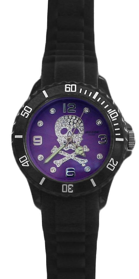 Waooh - Watch SKULL 38 Silicone Black
